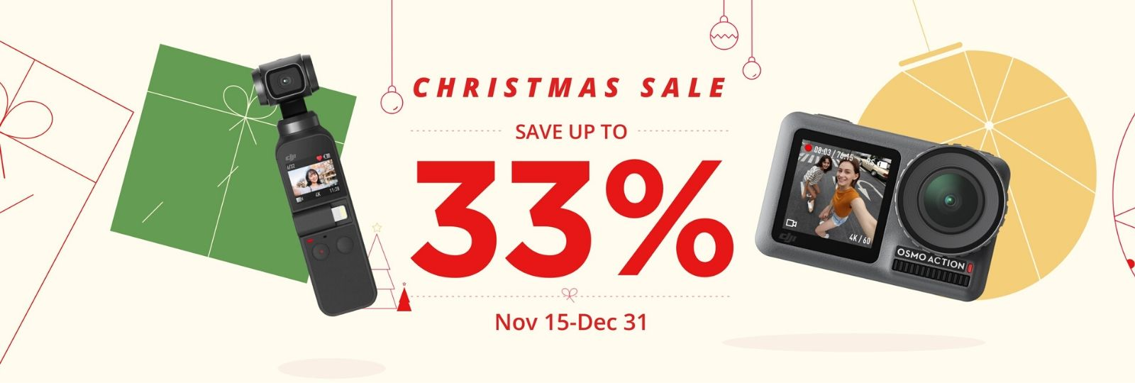 DJI Christmas Sale - Save Up to 33%