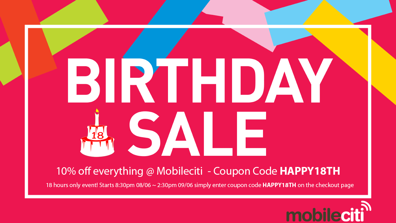 Mobileciti 18th birthday