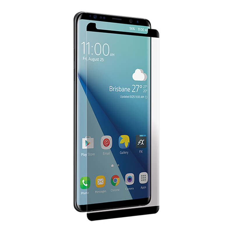 Image of 3SIXT Curved Glass Screen Protector for Samsung Note 9 - Black Frame - 9318018130475