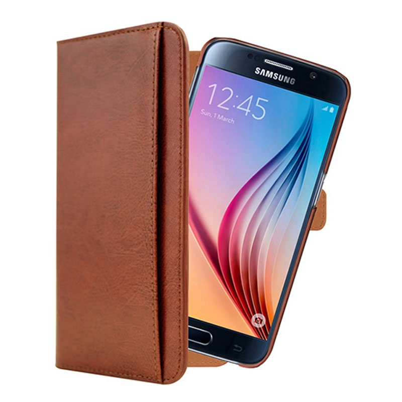 Image of 3SIXT Neo Wallet Case for Samsung Galaxy S6 - Brown - 9318018112778