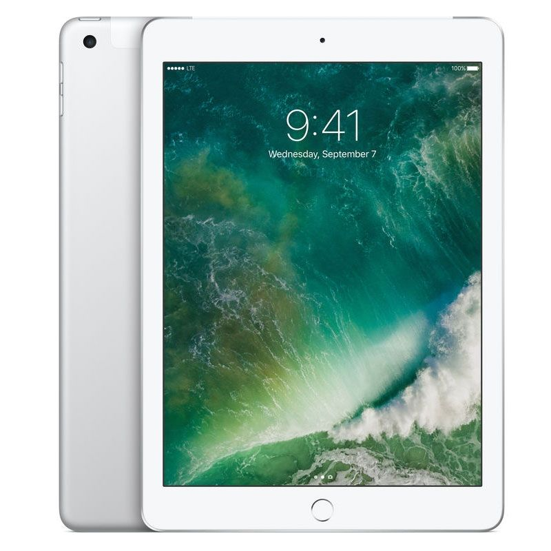 "Apple iPad 2017 9.7"" WiFi + Cellular 128GB - Silver - Unlocked, 100% Australian Stock"