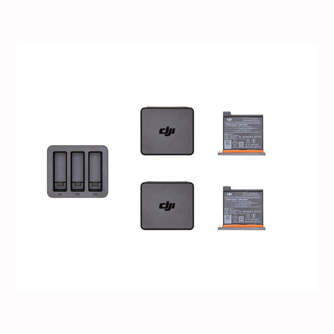 DJI Osmo Action PT3 Charging Kit (1 Hub, 2 Battery and Case)