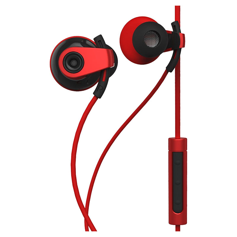 BlueAnt Pump Boost Wired HD Audio Sportbuds - Red