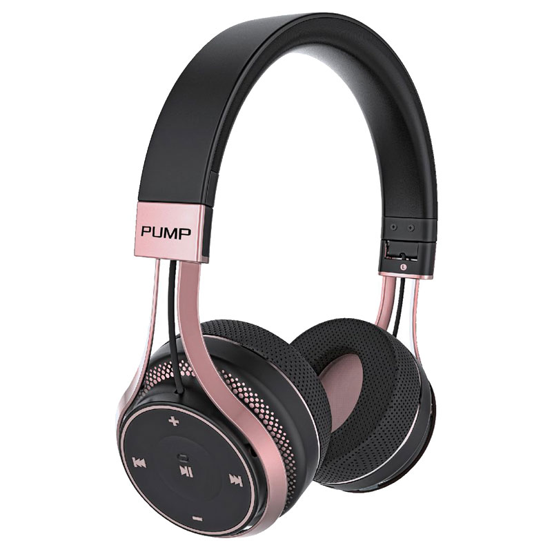 blueant pump soul bluetooth wireless on ear stereo headset rose gold. Black Bedroom Furniture Sets. Home Design Ideas