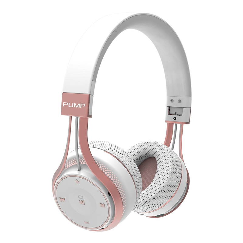 Blueant Pump Soul Bluetooth Wireless on Ear Stereo Headset - White Rose Gold
