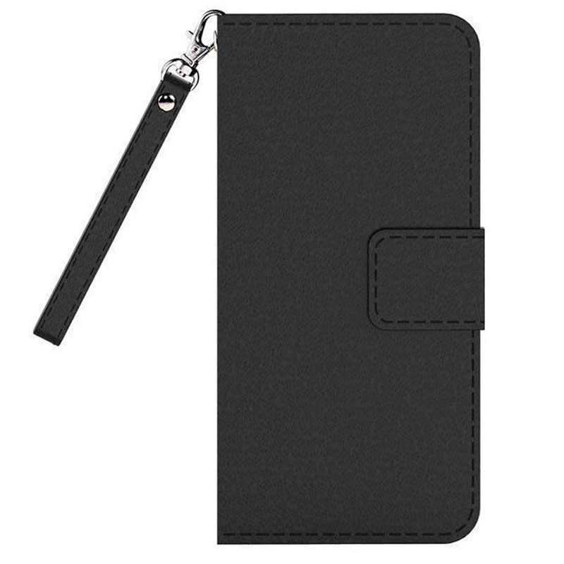 Cleanskin Flip Wallet Case with Mag-Latch for Apple iPhone 7 - Black - , 100% Australian Stock