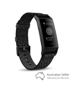 Fitbit Charge 4 Fitness Tracker Special Edition - Black/Granite Reflective Woven-main