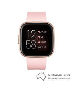 Fitbit Versa 2 Smart Watch - Petal/Copper Rose Aluminium Front