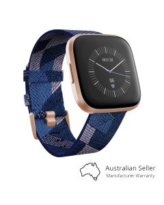 Fitbit Versa 2 Smart Fitness Watch Special Edition - Navy / Pink Woven-main