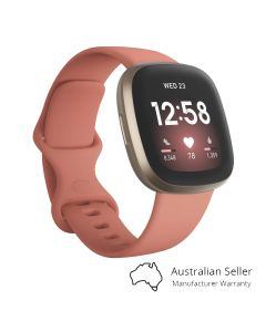 Fitbit Versa 3 Advanced Fitness Watch - Pink Clay/Soft Gold-main
