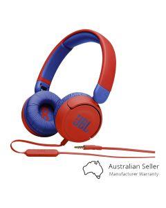 JBL JR310 Kids Wired On-Ear Headphones - Red/Blue-main