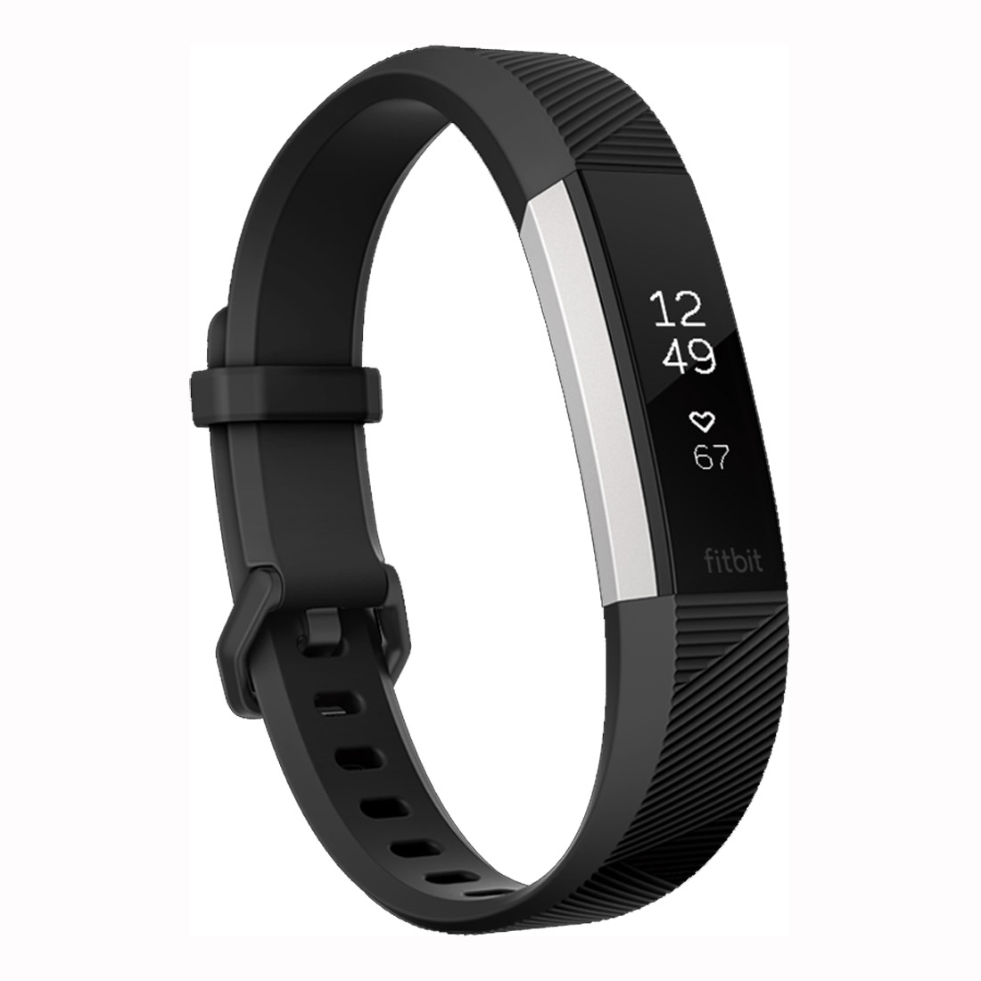 Fitbit Alta HR Activity Tracker Extra Large - Black Silver