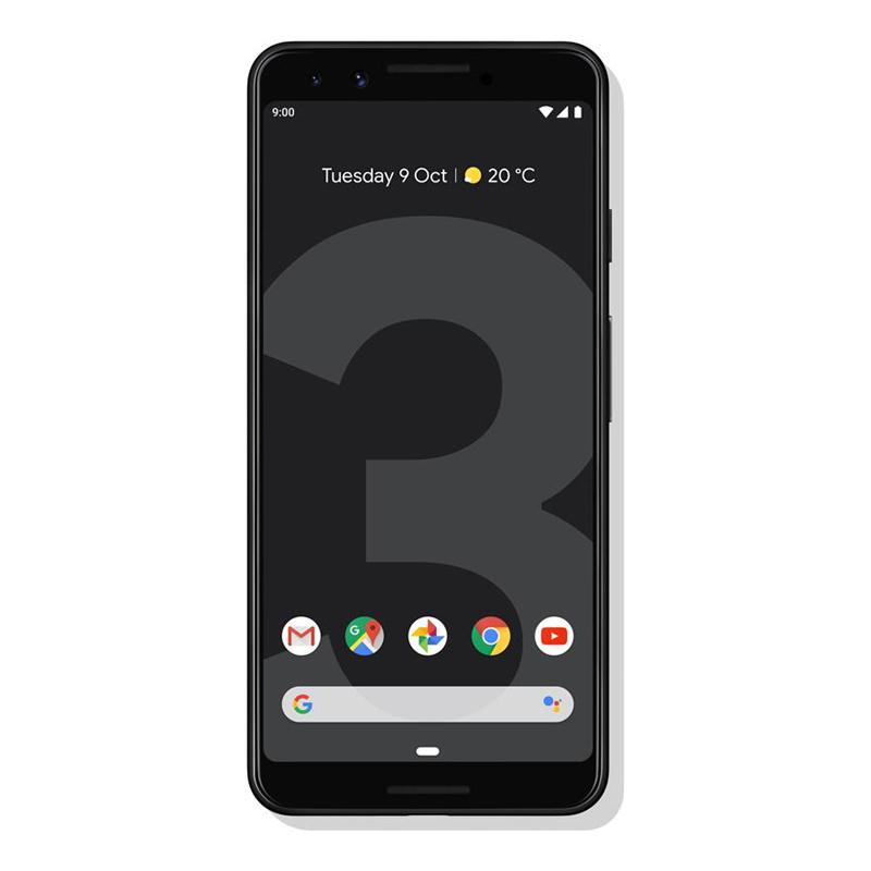 """Google Pixel 3 (5.5"""", 128GB/4GB, SD 845) - Just Black"""
