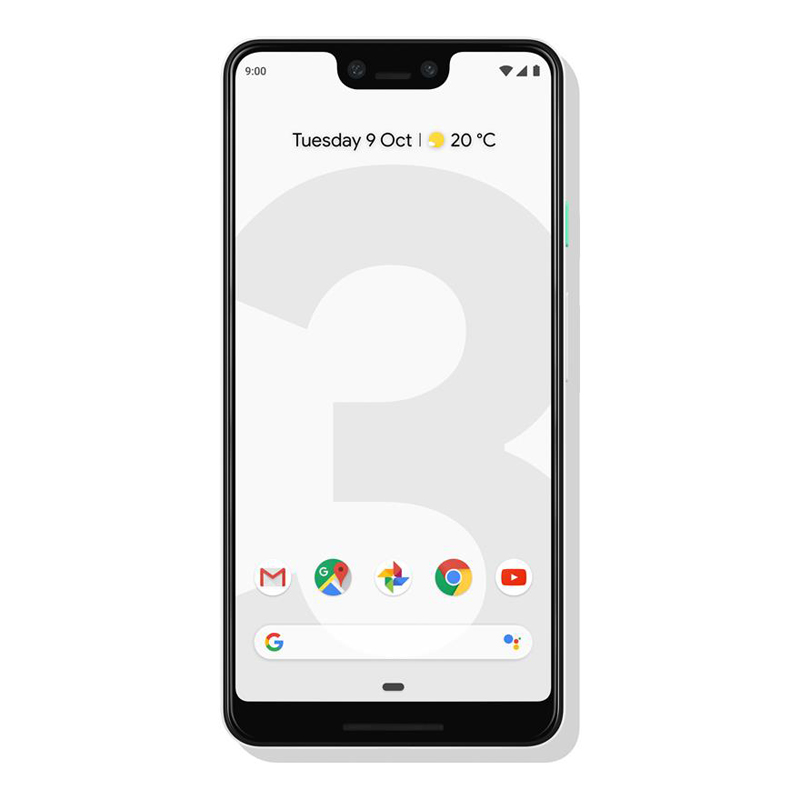 """Google Pixel 3 XL (6.3"""", 12.2 MP, 64GB/4GB) - Clearly White"""