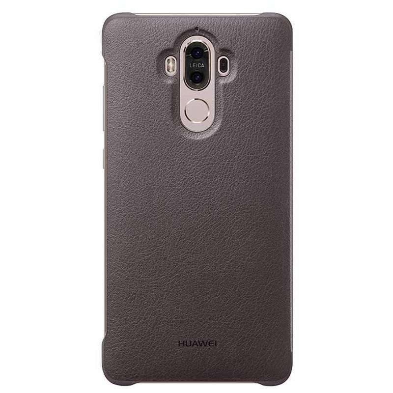 Huawei Mate 9 Smart View Flip Case - Mocha Brown