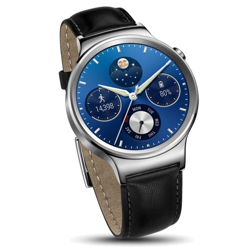 huawei w1. huawei w1 watch stainless steel leather - black d