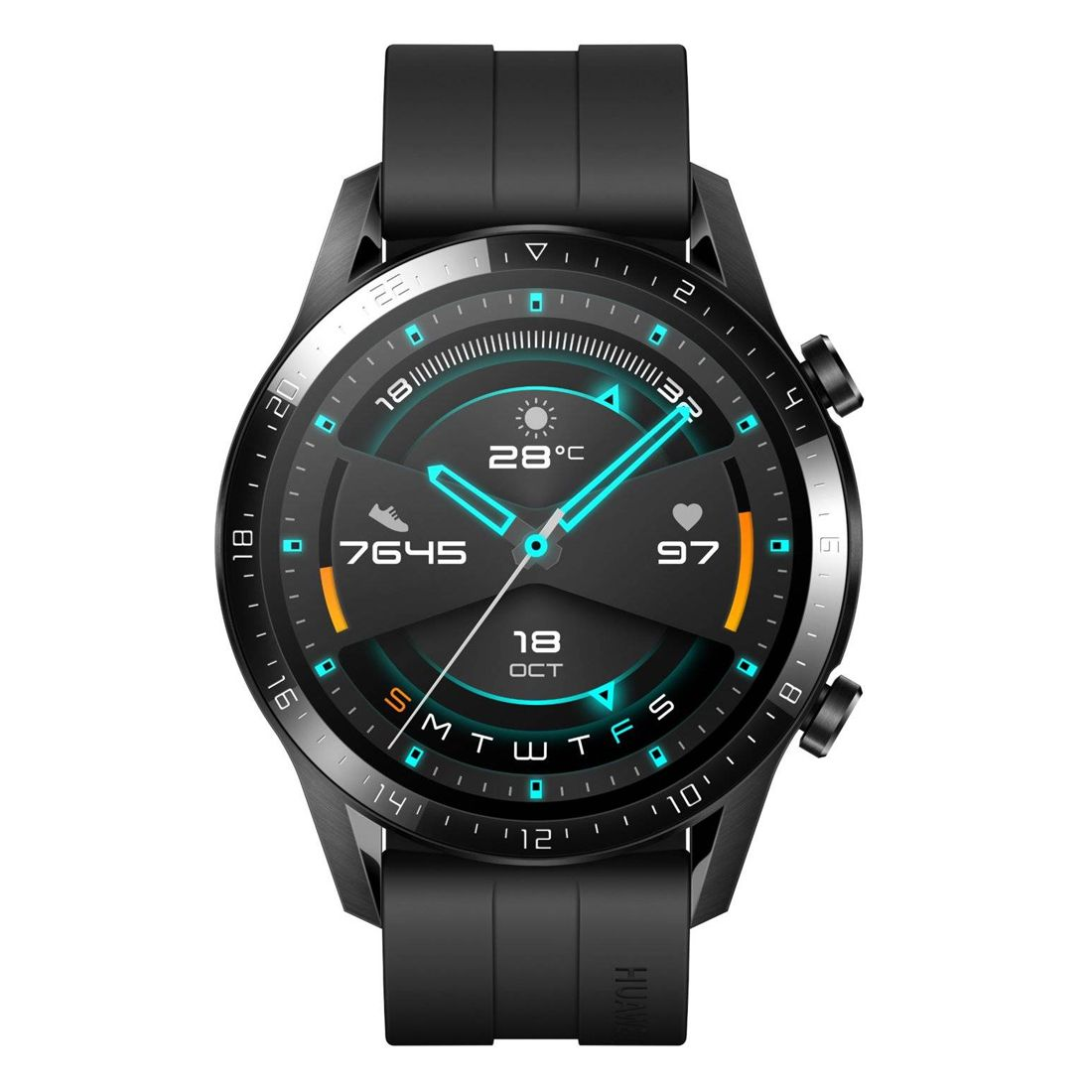Huawei Watch GT 2 Sport 46mm Smartwatch - Matte Black