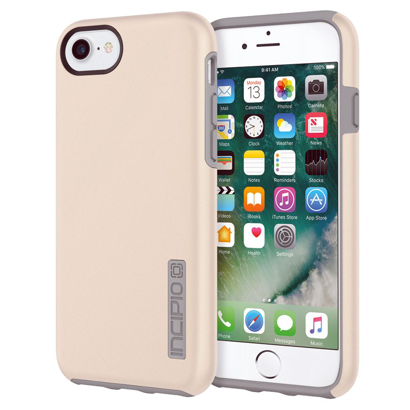 Incipio DualPro Dual Player Protection Case for Apple iPhone 7 / 6s / 6 - Iridescent Champagne/Gray - , 100% Australian Stock