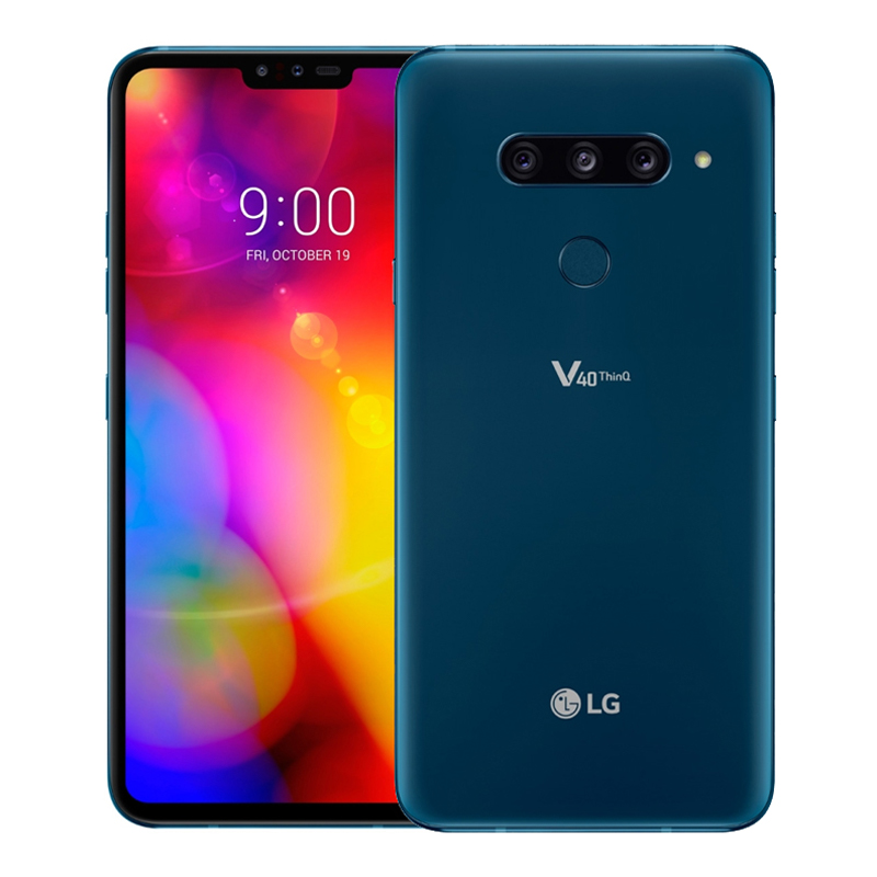 "LG V40 ThinQ (Dual Sim 4G/4G, 6.4"", 128GB/6GB) - Moroccan Blue"