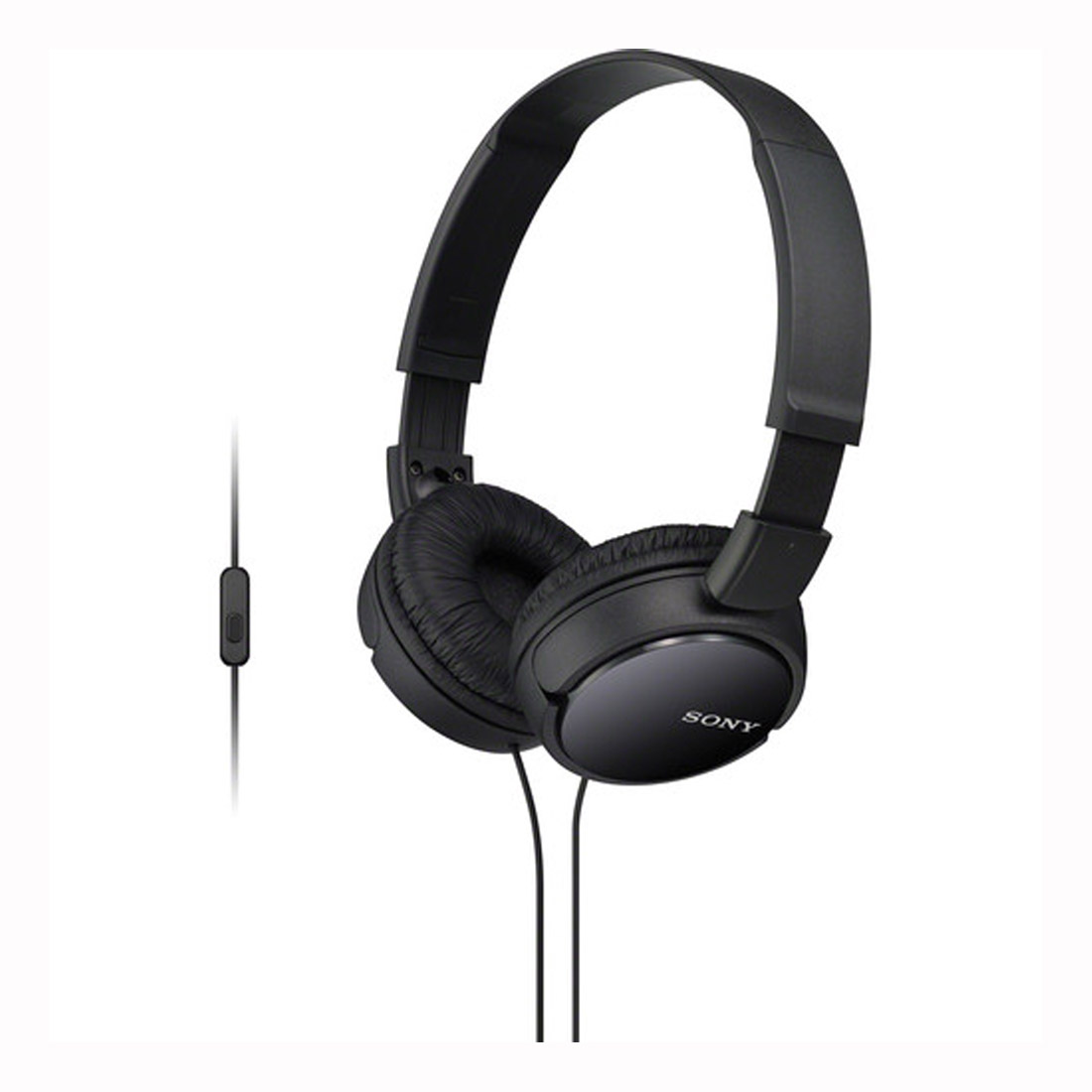 Sony MDR-ZX110AP Extra Bass Over-Ear Smartphone Headphones - Black