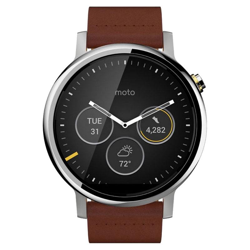 Motorola Moto 360 2nd Gen Smart Watch 46mm Men Cognac