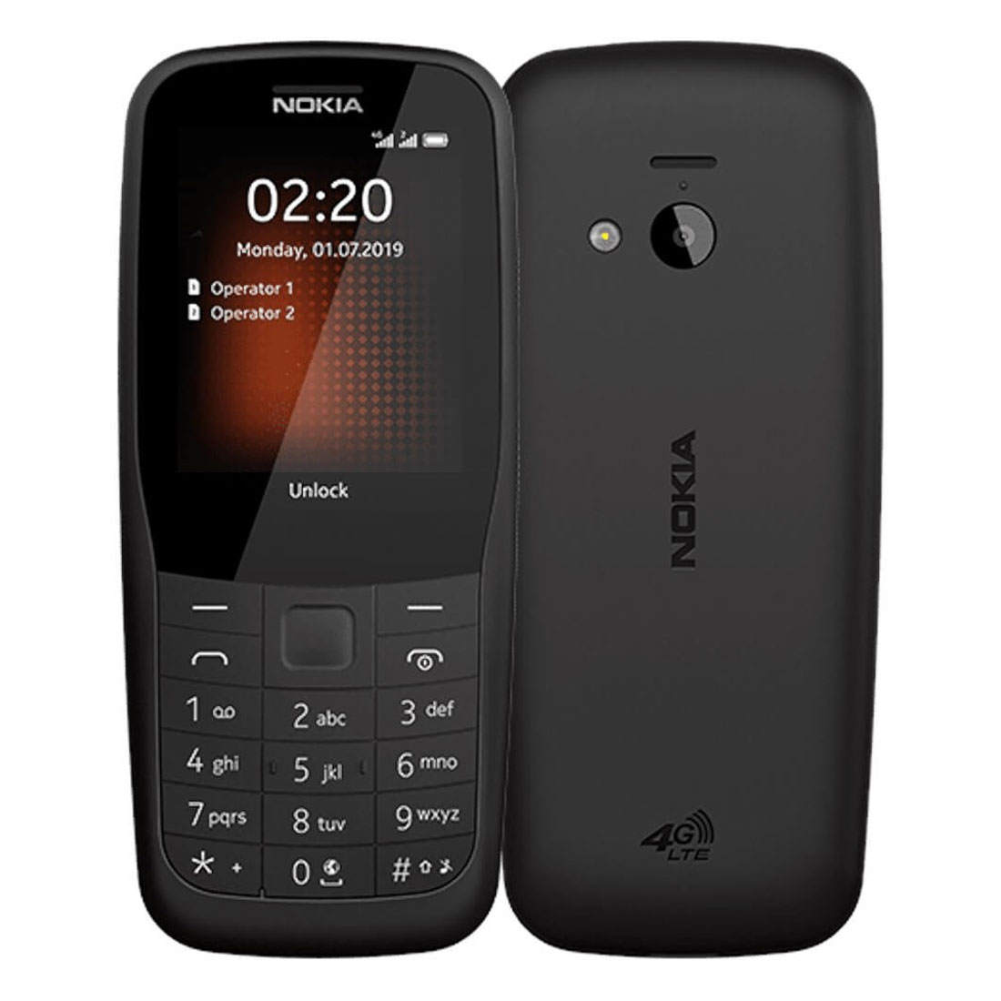[Open Box - As New] Nokia 220 (4G Only, Keypad) - Black