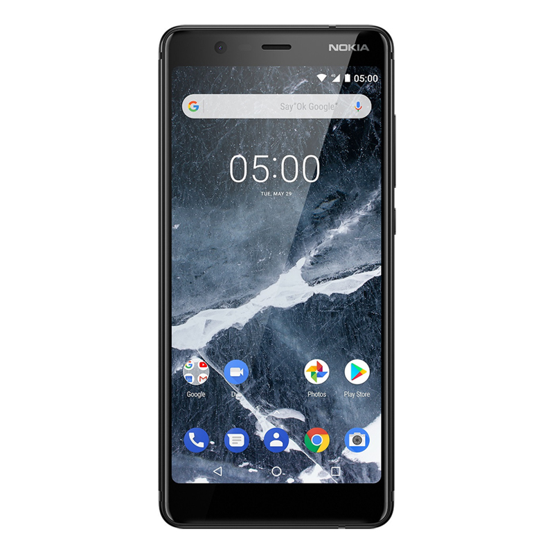 "Nokia 5.1 (5.5"", 16MP, Android One) - Black"