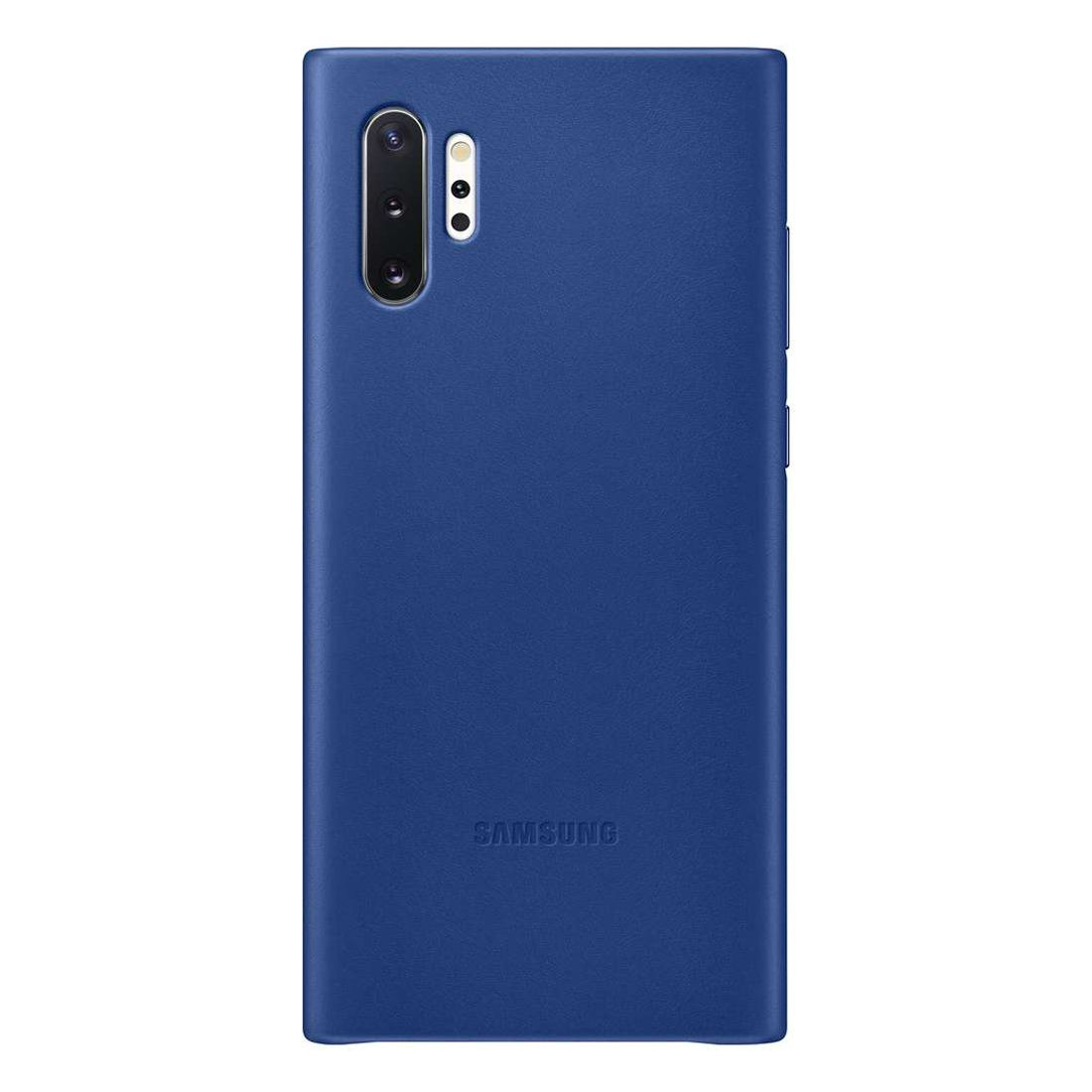 Samsung Galaxy Note 10+ Plus Leather Back Cover - Blue