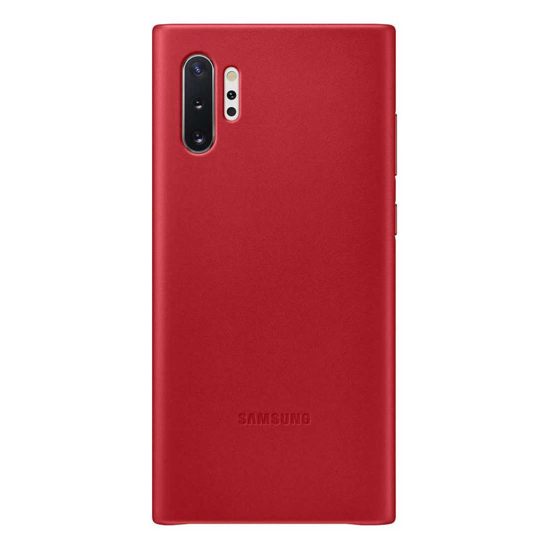 Samsung Galaxy Note 10+ Plus Leather Back Cover - Red