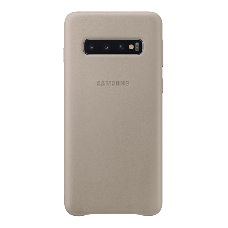 Samsung Galaxy S10 Leather Back Cover - Grey