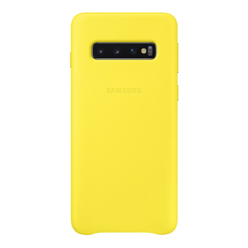 Samsung Galaxy S10 Leather Back Cover - Yellow