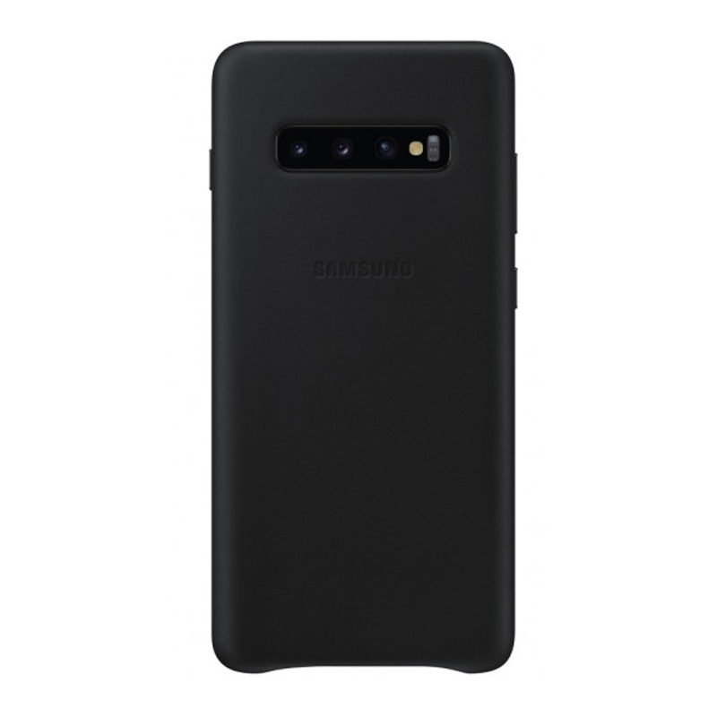 Samsung Galaxy S10+ Plus Leather Back Cover - Black
