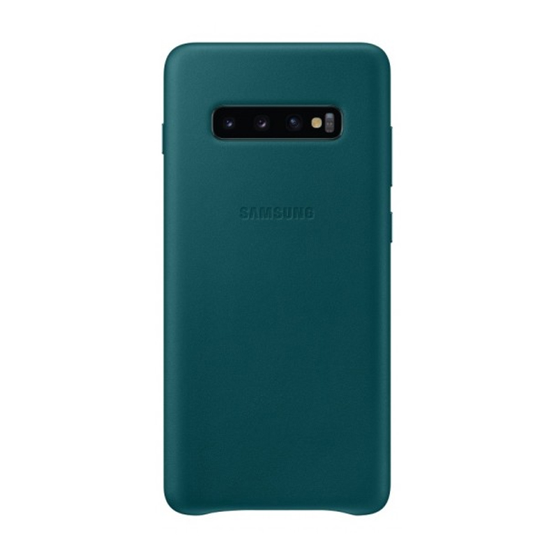 Samsung Galaxy S10+ Plus Leather Back Cover - Green
