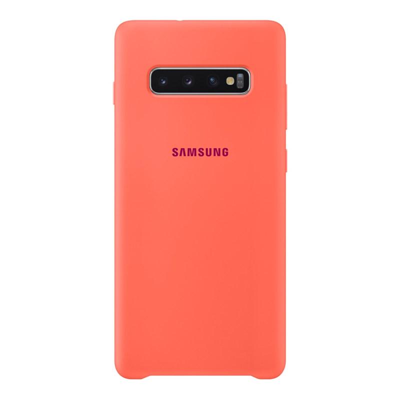 Samsung Galaxy S10+ Plus Silicone Cover - Berry Pink