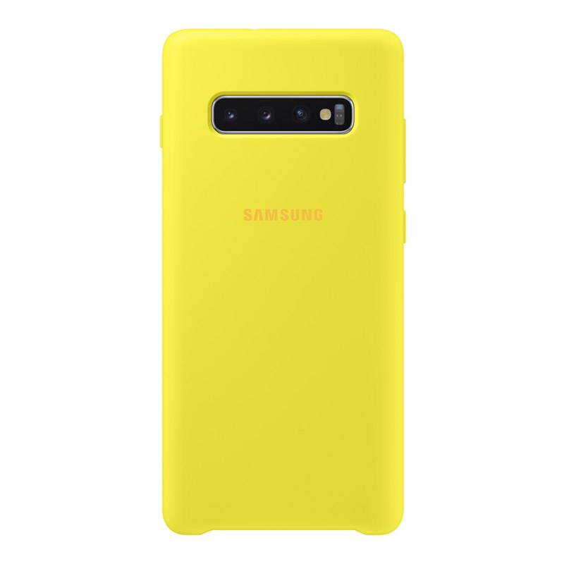 Samsung Galaxy S10+ Plus Silicone Cover - Yellow