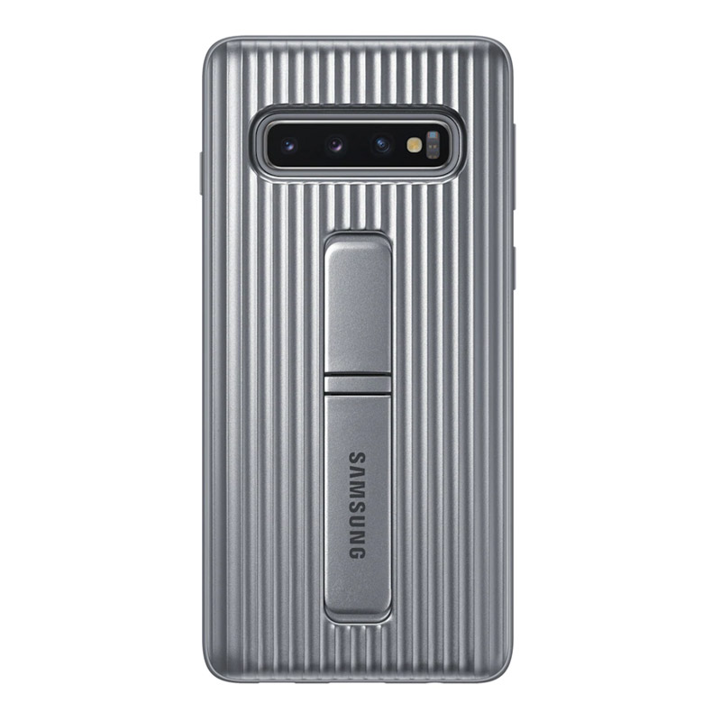 Samsung Galaxy S10 Protective Standing Cover - Silver
