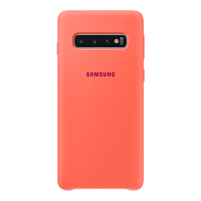 Samsung Galaxy S10 Silicone Cover - Berry Pink