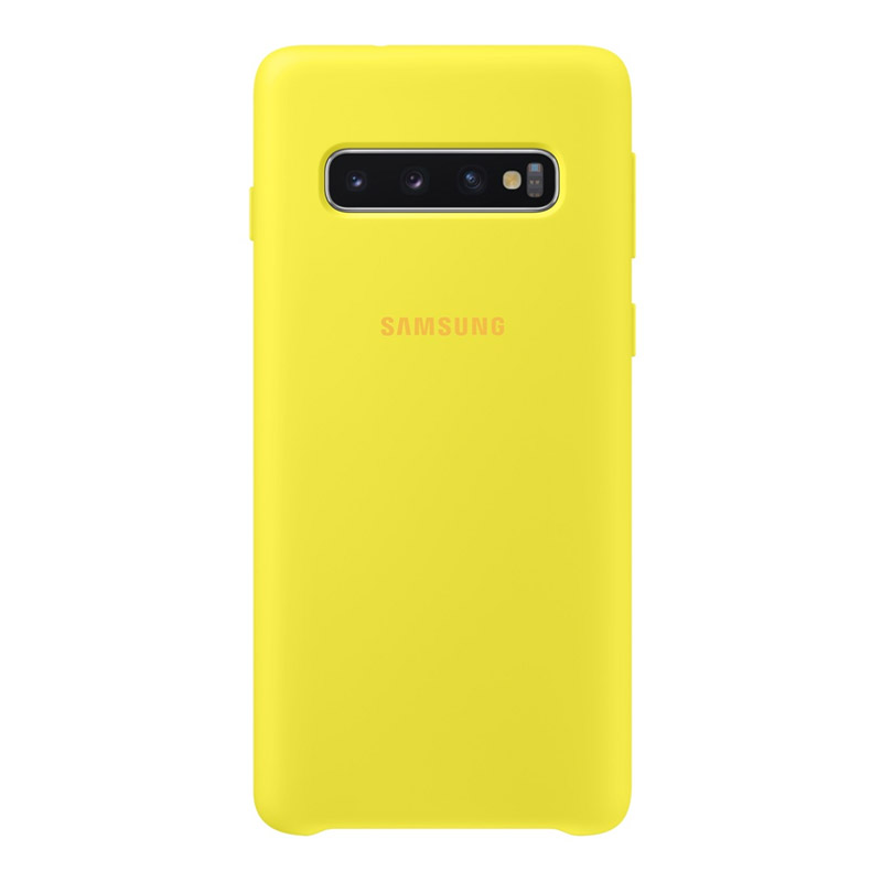 Samsung Galaxy S10 Silicone Cover - Yellow