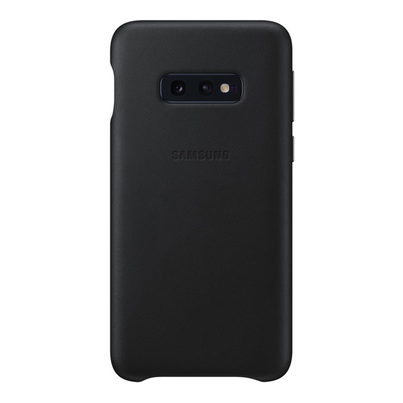 Samsung Galaxy S10e Leather Back Cover - Black