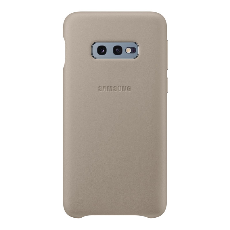 Samsung Galaxy S10e Leather Back Cover - Grey