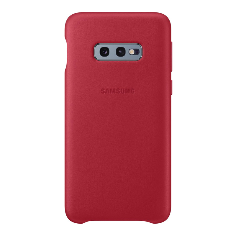 Samsung Galaxy S10e Leather Back Cover - Red