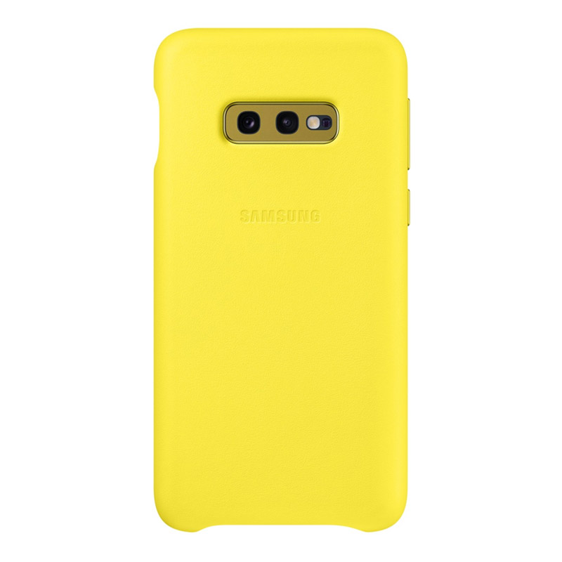 Samsung Galaxy S10e Leather Back Cover - Yellow
