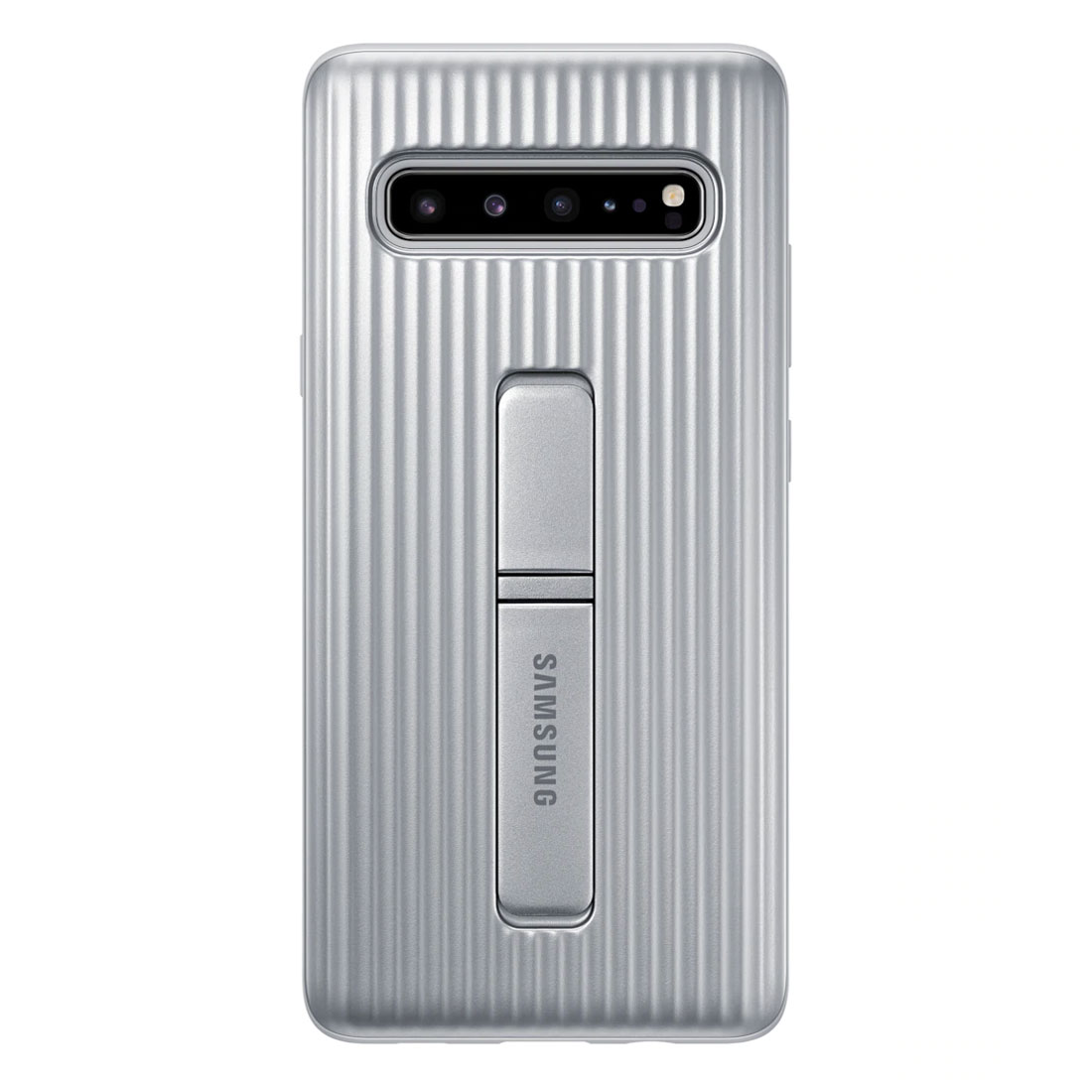 Samsung Galaxy S10 5G Protective Standing Cover - Silver