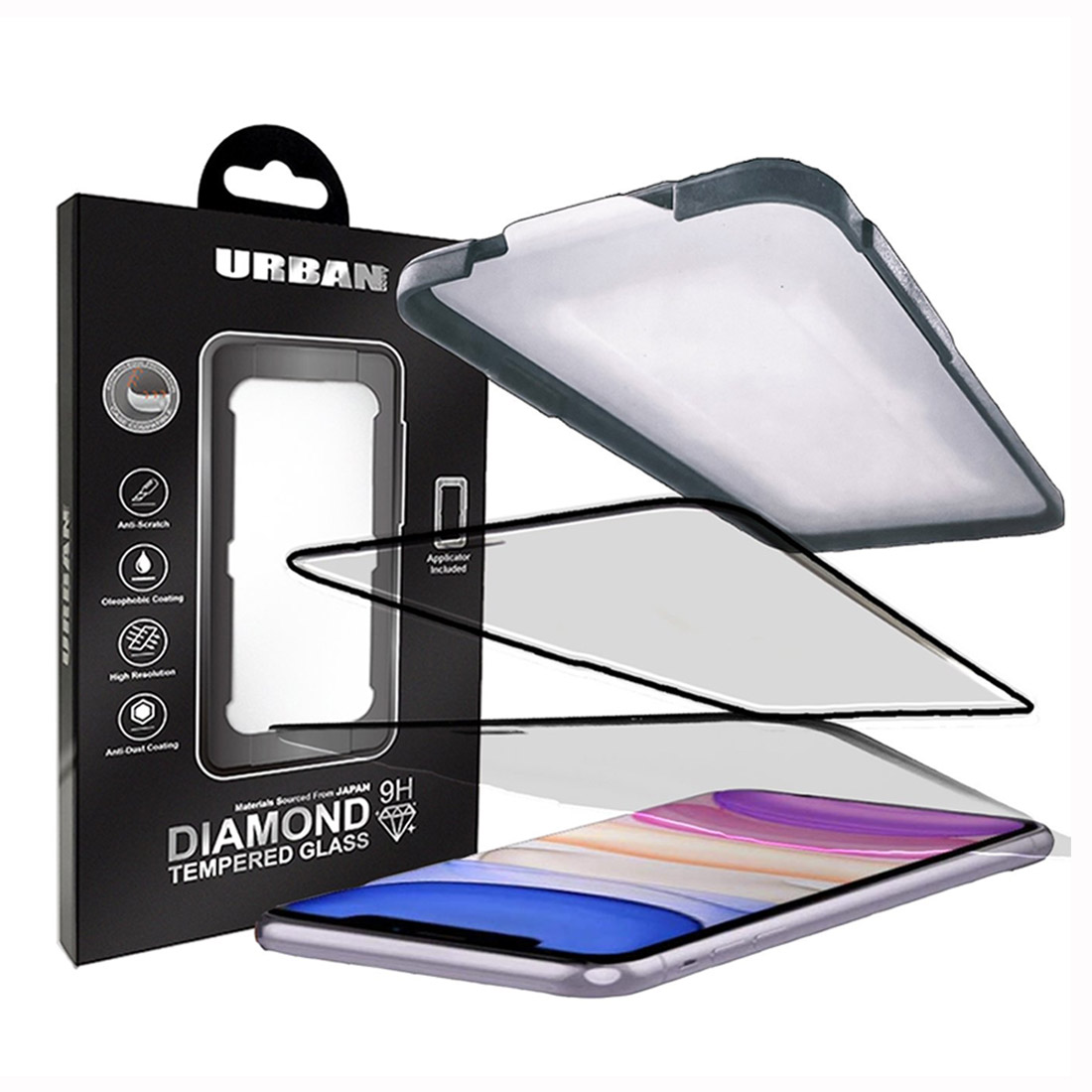 Urban Diamond Tempered Glass Screen Protector For iPhone 11