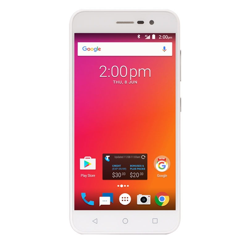 "ZTE Enhanced A520 (4G/LTE, 5.0"", 8MP , Locked to Telstra) - Silver"