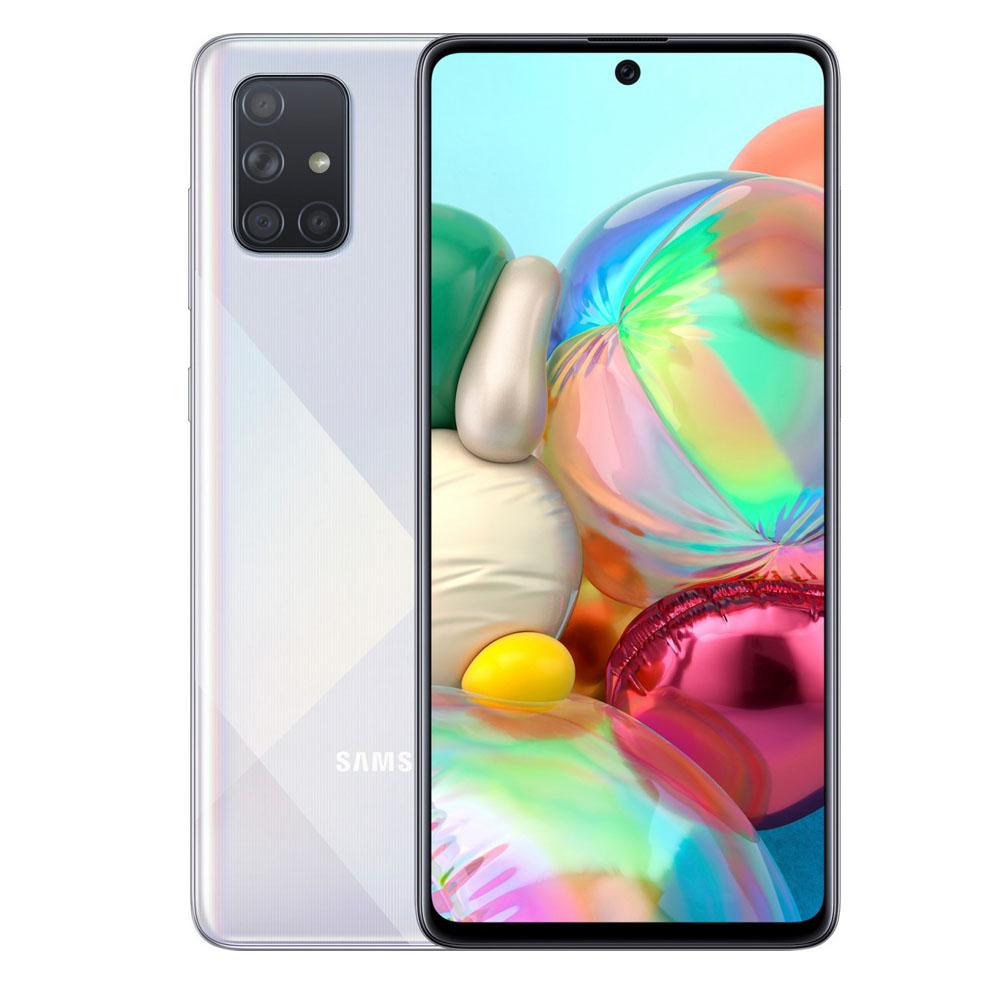 """Samsung Galaxy A71 (Dual Sim 4G/4G, 6.7"""", 64MP) - Silver White"""