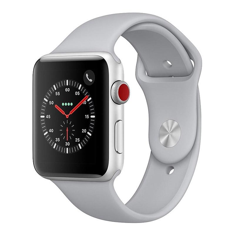 [Open Box] Apple Watch 42mm Series 3 (GPS+Cellular) - Silver Aluminium Case w/ Fog Sport Band
