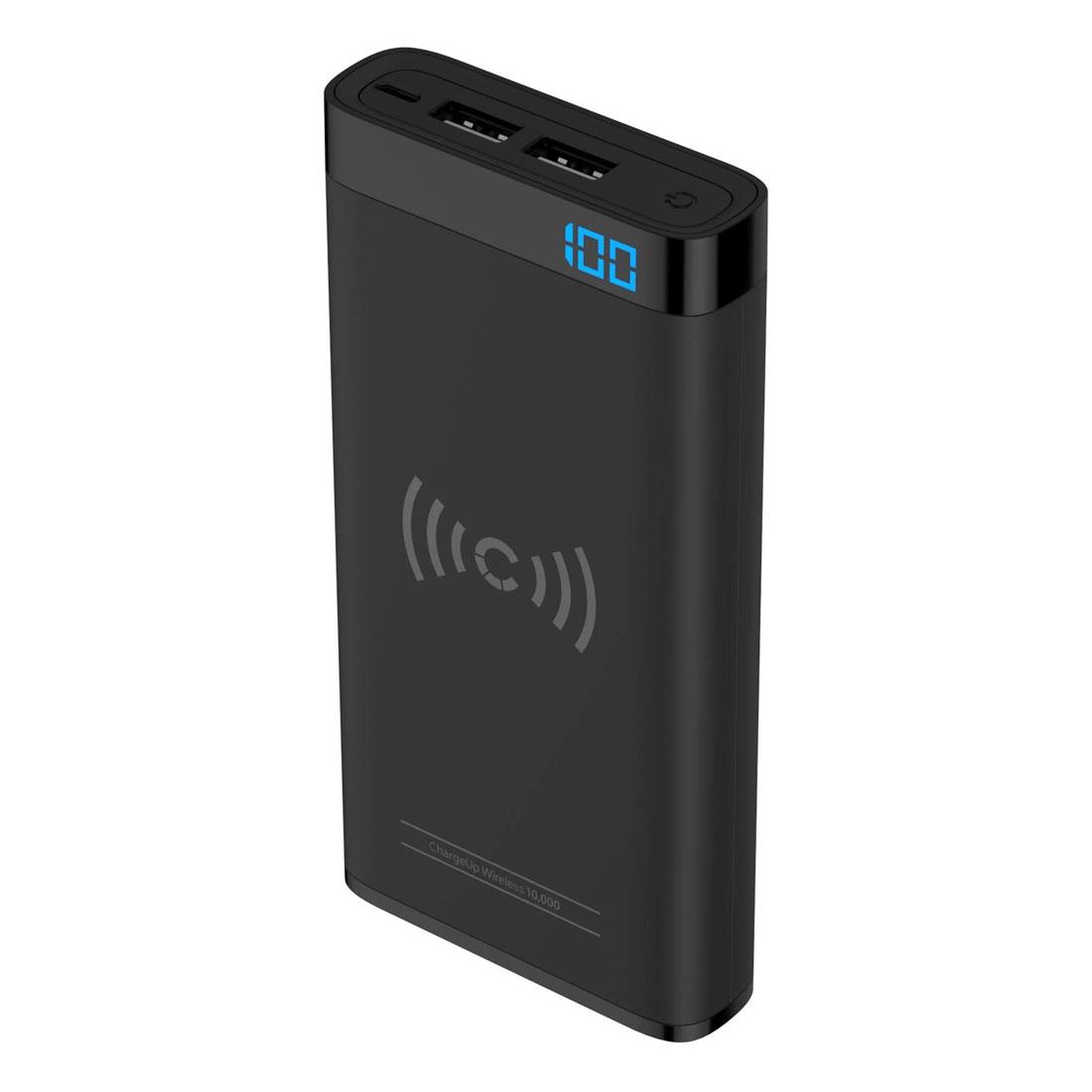 Cygnett ChargeUp Swift 10000mAh Wireless Power Bank w/USB-A Port - Black