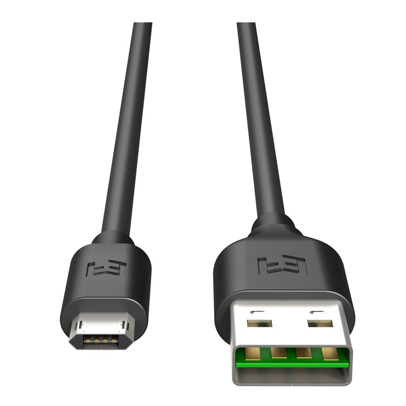 EFM 2m Flipper USB to Micro-USB Charge & Sync Cable - Black