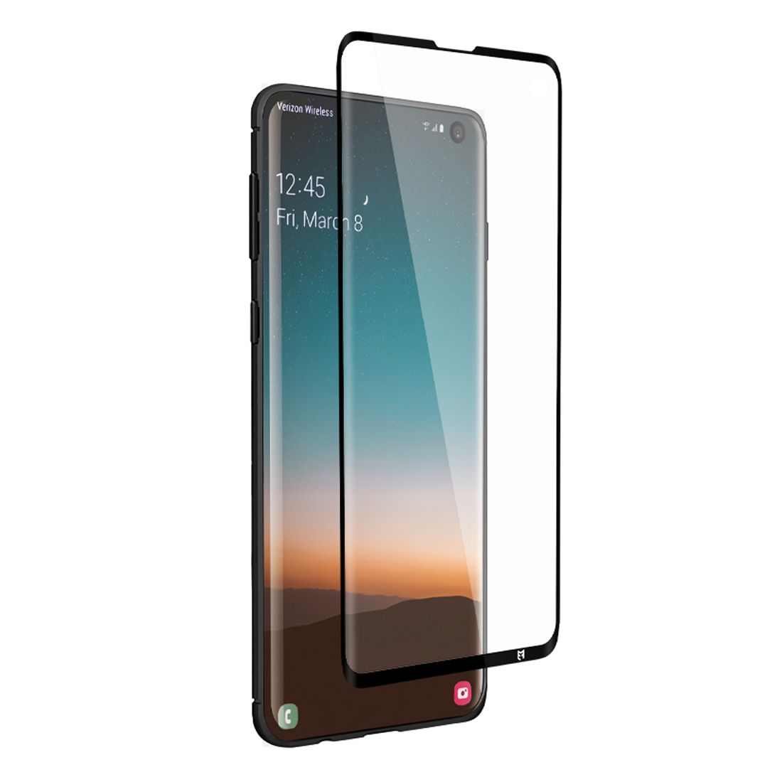 EFM Impact Flex Screen Armour For Samsung Galaxy S10+ Plus - Clear/Black Frame